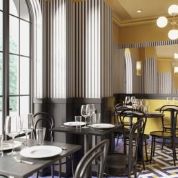 3d Визуализация интерьера ресторана