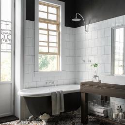3d визуализация интерьера ванной комнаты во французском стиле