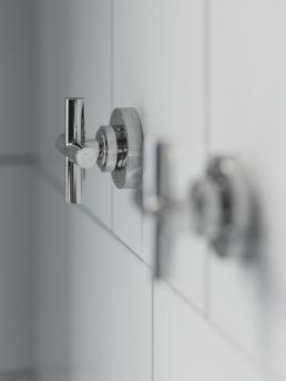 3d Визуализация интерьера ванной комнаты во Франци