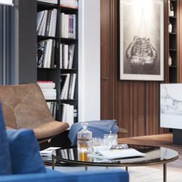 Визуализация интерьера квартиры для холостяка
