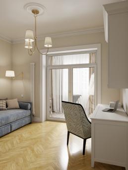 Визуализация интерьера квартиры для девушки