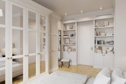 Визуализация интерьера квартиры для девушки жк Наследие